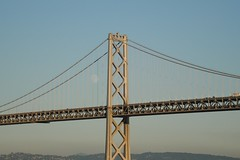 Bay Bridge to Oakland with the moon rising (Follow on instagram @ _bmcollins_) Tags: sanfrancisco oakland baybridge