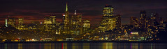 San Francisco City Skyline at Night Panorama (David Gn Photography) Tags: sf sanfrancisco california ca city travel sunset panorama reflection water night photoshop buildings landscape evening bay pier office downtown raw cityscape waterfront view skyscrapers dusk sightseeing scenic scene tourist coittower transamerica telegraphhill pier39 stitched attractions ghirardellisquare canonef100400mmf4556lisusm photomerged canoneos7d
