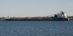 Peter R Cresswell (cjh44) Tags: lakeontario laker freighter wolfeisland capevincent algomarine marinetrafficcom