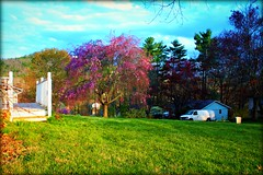 My front yard (steviep187) Tags: lighting pink blue trees red summer sky orange usa white black mountains colour green nature beautiful yellow azul clouds digital canon wow outdoors eos rebel lights landscapes nc spring cool nice colorful warm pretty shadows seasons gorgeous awesome vivid sunny carolina eastern scenics xsi luminosity colorphotoaward