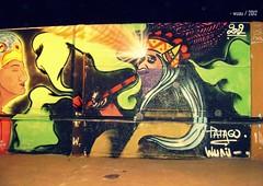 Indio deja el Mezcal (. w u a u .) Tags: patagonia streetart mural graff mapuche arteurbano wuau patagoniastreetart