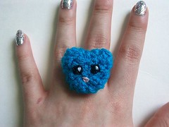 Bear Crochet Ring (Mooy) Tags: cute animal shop handmade crochet jewelry rings kawaii etsy mooeyandfriends