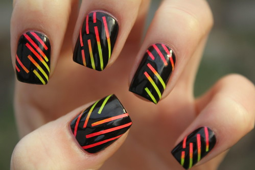 Neon stripes!