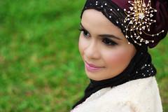 HIJAB + KEBAYA (firdaushadzri) Tags: woman green girl beauty fashion canon 50mm model purple skin muslim smooth hijab talent malaysia malay kebaya