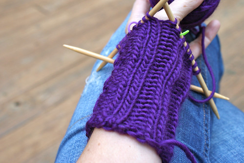 Back of Fingerless Mitts