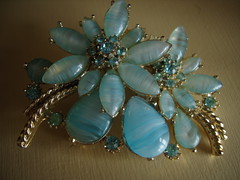 Exquisite Signed Glass Brooch (Bracelets To Buckles) Tags: jewellery bracelets buckles