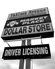 Yakima Ave. Plaza (Vorona Photography) Tags: plaza food usa america photo store place angle image market budget united picture photograph ave dollar driver states grocery avenue groceries cheap yakima licensing saars