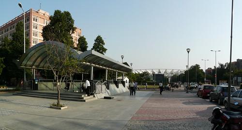 Jawaharlal Nehru Stadium Metro Station Jawaharlal Nehru Stadium Metro