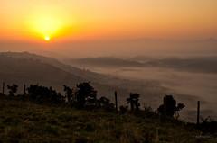 Silencio  --  Quietness (Ahio) Tags: mist sunrise fence amanecer brumas smcpfa31mmf18 pentaxk5