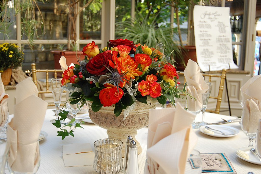 Floral Centerpieces at the Brownstone