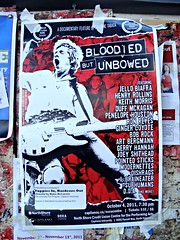 Bloodied but Unbowed (knightbefore_99) Tags: show old history film rock vancouver poster punk gig hardcore bloody doc jellobiafra doa unbowed joeyshithead randyrampage