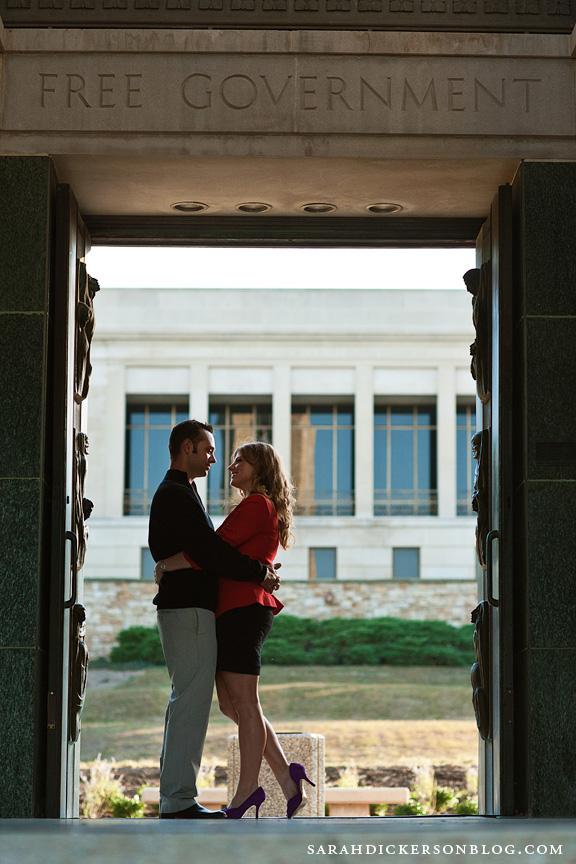 University of Kansas engagement session