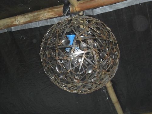 Reused Silverware Lampshade