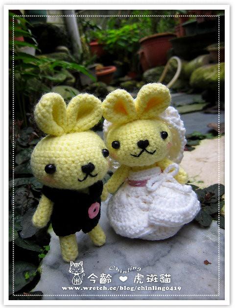 兔子.婚禮娃娃1