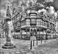 CORNER OF BRIDGE STREET (Shaun's Nature and Wildlife Images....) Tags: mono hdr shaund