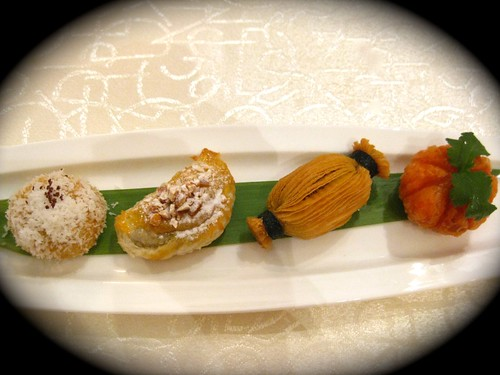 Chocolate dim sum platter' (£6.00) features four fabulous delicacies, the 'canton cracker', 'pumpkin bundle' made with pumpkin and lemon zest, the 'cashew crescent' and 'coconut doughnut' rolled in coconut shavings and tangerine zest.