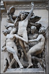 La Danse (cleofysh) Tags: music paris france stone statues happiness angels magnificent opulent palaisgarnier opulence opragarnier opradeparis opranationaldeparis architectcharlesgarnier