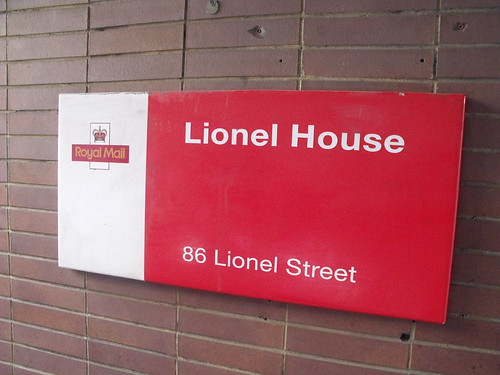 Lionel House, 86 Lionel Street, Birmingham - Royal Mail sign