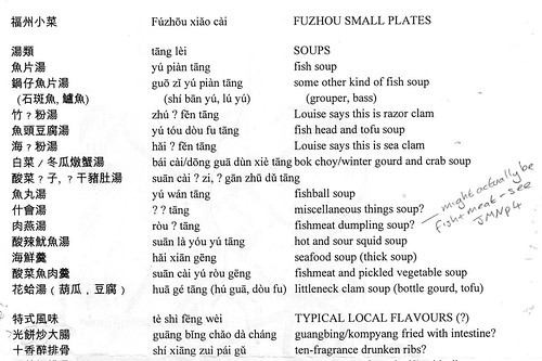 Reading Chinese Menus: Concepts: The restaurant cheat-sheet