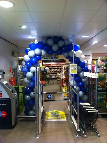 Ballonboog 6m Grijs Blauw Plus Supermarkt Delft Hockeyplaatjes Aktie