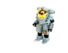 Retro Spacesuit (Cam M.) Tags: old boss moon fun lego space awesome retro suit 1950s stuff epic hardsuit tablescrap