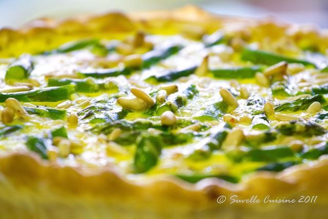 Tarte de espargos e Gruyere / Asparagus, pine nuts and Gruyere Tart
