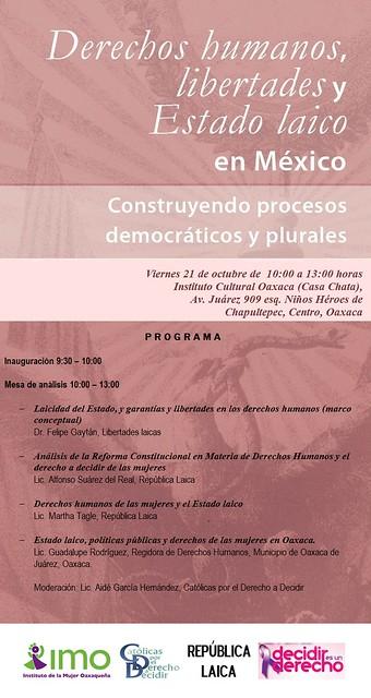 Foro: Derechos humanos, libertades y Estado laico en México
