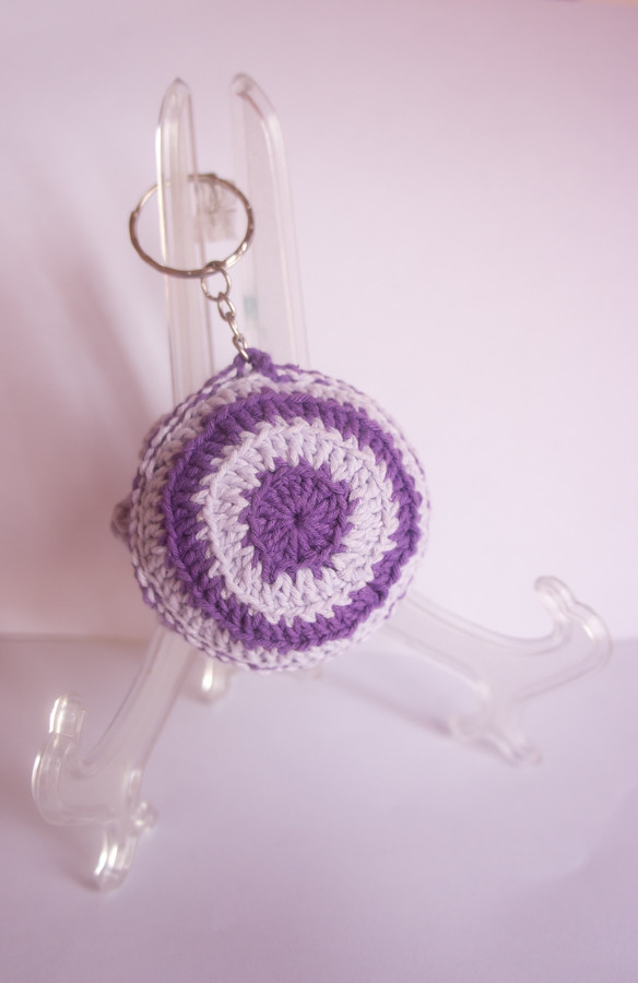 Crochet Key Chain [Blooming Flower Cushion]