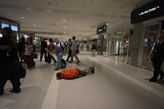 Facedown at Detroit Metro Airport (Notkalvin) Tags: mi airport michigan detroit tuesday havingfun detroitmetro facedown planking beingweird fdt mikekline michaelkline hfdt notkalvin isforkids livingthestrangelife iprefertonotbeserious thanksforthehelpmom notkalvinphotography
