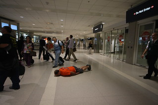 Facedown at Detroit Metro Airport