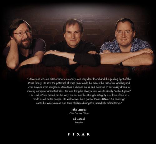 Steve Jobs ricordat sul sito Pixar