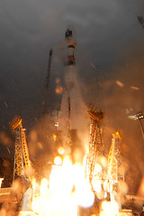 Lift off of flight Soyuz VS01