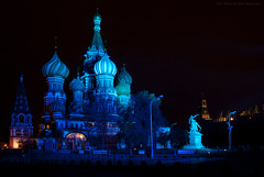 Moscow. Cathedral of the Holy Virgin, that on the Moat (St. Basil's Cathedral). (Yuri Degtyarev) Tags: light ex st festival night circle lights cathedral moscow sony tripod sigma holy virgin international yuri 100 alpha moat a100 1224 basils   slik   degtyarev  12244556 alpha100