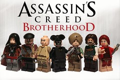 Lego Assassin's Creed Brotherood (it) Tags: lego prince doctor barber priest brotherhood agents prowler templar noble creed courtesan ezio altair assassins auditore abstergo