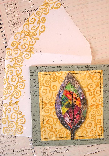 Paper-cloth leaf card