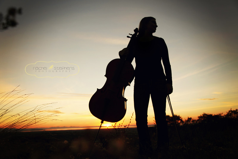 Sunset Cello Player