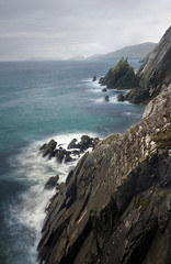 last day at the edge of the earth (manyfires) Tags: ocean longexposure ireland sea landscape rocks shoreline cliffs atlanticocean dunquin dinglepeninsula countykerry