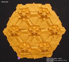 recto937 (LydiaDiard paperfolledingue) Tags: geometric paper 3d origami lydia tessellations paperfolding volume tant lydiard diard lydiadiard