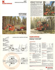 K3FF french 1980 (The Koehring Guy) Tags: wood trees log forestry machine equipment loader feller forwarder koehring