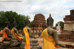 The Kingdom of Ayutthaya  from 1350 to 1767 - Part 5 (Meshari Al-Rezaihan) Tags: blue sky green heritage canon thailand temple asia southeastasia buddha buddhism bluesky unescoworldheritagesite unesco worldheritagesite temples siam sukhothai ayutthaya chaophrayariver greentrees orangecolor canon500d ancientcity heritagesite theravada centralthailand ancientcapital 550d mahayanabuddhism malaypeninsula meshari lens18200mm ayutthayakingdom canoneos550d alrezaihan thekingdomofthetais krungtai thekingdomofayutthaya