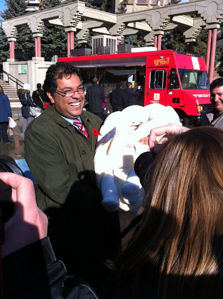 Mayor Nenshi and a baby perogy!