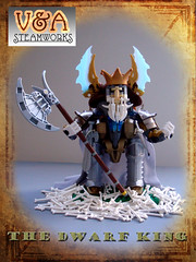 The Dwarf King by V&A Steamworks (V&A Steamworks) Tags: scale king lego dwarf large dragons va figure axe dd steamworks steampunk moc dungeond