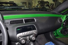"2011 Synergy Green Camaro 5th Gen custom door panel install • <a style=""font-size:0.8em;"" href=""http://www.flickr.com/photos/85572005@N00/6303468342/"" target=""_blank"">View on Flickr</a>"