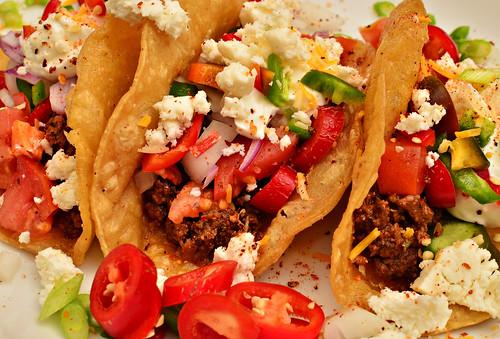 Mmm... Tacos - chorizo, queso fresco, on by jeffreyw, on Flickr