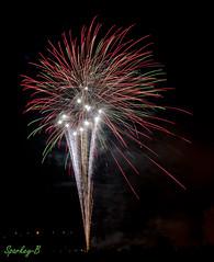 Firework 3 (sparkeyb) Tags: nightphotography light fire nikon colours bright fireworks vibrant guyfawkes sparkle flame pyro sparks coloured explode explosive pyromaniac gunpowder pyrotechnics 18mm bulbexposure 5thnovember d7000 sparkeyb