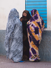 The gossip (Evgeni Zotov) Tags: africa street old people woman color colour three town colorful veil dress group hijab talk communication morocco maroc marocco maghreb conversation cloak marruecos speak marokko sidiifni moroccan communicate gossip marrocos fas marocko maroko   khimar colourul