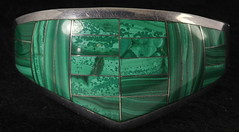 4042. Sterling and Malachite Bracelet, Mexico