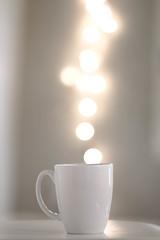 enlightened (spiralgirl1) Tags: light white coffee mug bohkeh