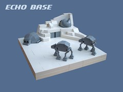 Echo Base (2 Much Caffeine) Tags: starwars lego micro atat hoth echobase ioncannon shieldgenerator ironbuilder theshieldwillbedownmomentarilylordvader