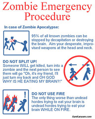 zombie-poster In case of emergency (sanitaryum) Tags: funny lol humor cleanhumor